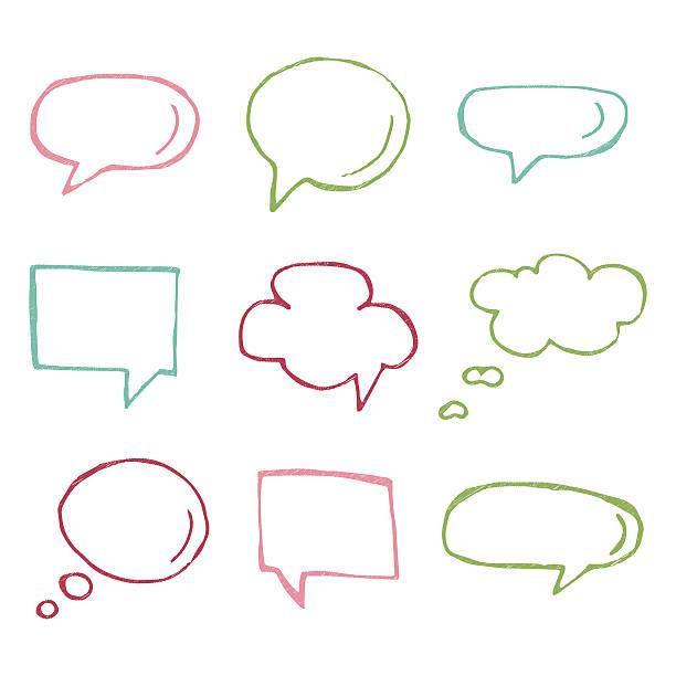 Speech bubble vector icons. - ilustração de arte em vetor