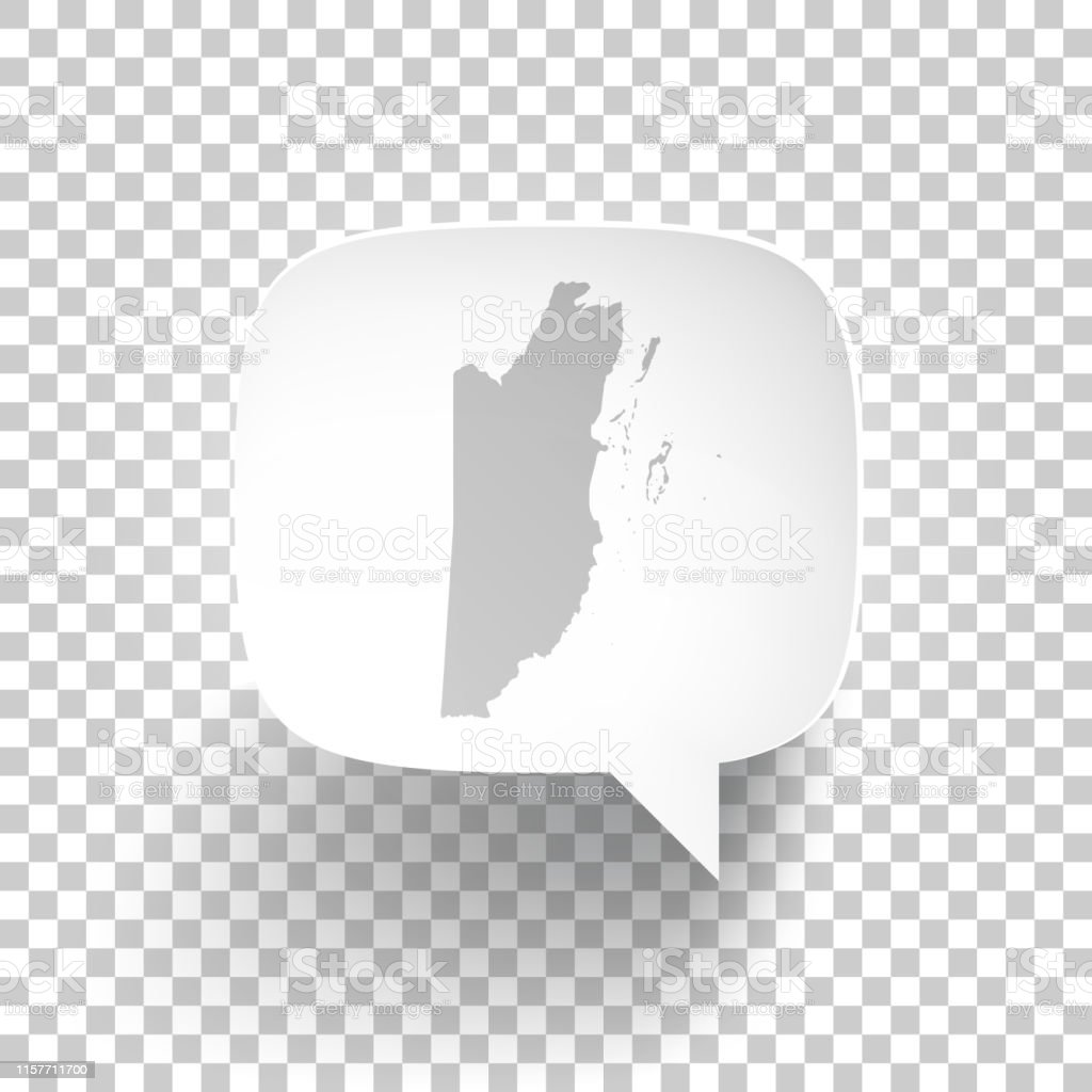 Speech Bubble With Belize Map On Blank Background Stock Illustration -  Download Image Now