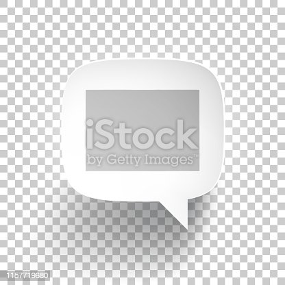 Map of Colorado in a speech bubble with a realistic three-dimensional effect, isolated on a white background. Vector Illustration (EPS10, well layered and grouped). Easy to edit, manipulate, resize or colorize.