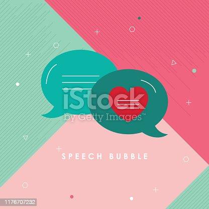 Bubble, Heart Shape, Internet Dating, Online Chat, Speech