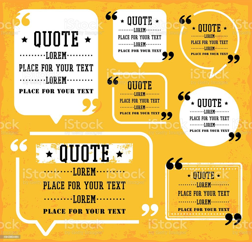 Speech Bubble with Quotes vector art illustration