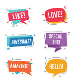 Collection of Speech bubble templates