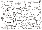 Speech bubble with various expressions vector one point.  Web, POP etc.