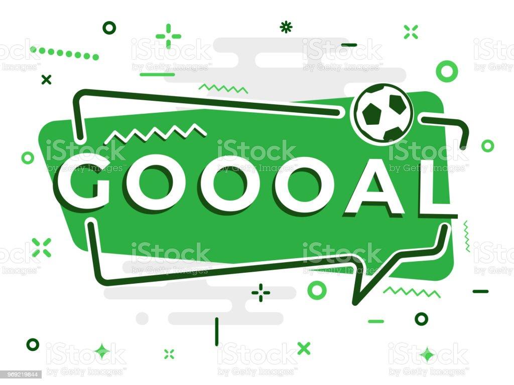 Ilustración de Palabra De Burbujas De Discurso Meta Con El Fútbol ...