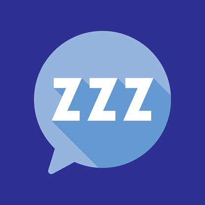 Speech Bubble ZZZ Icon Flat