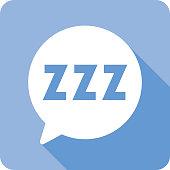 istock Speech Bubble ZZZ Icon Silhouette 1139826156