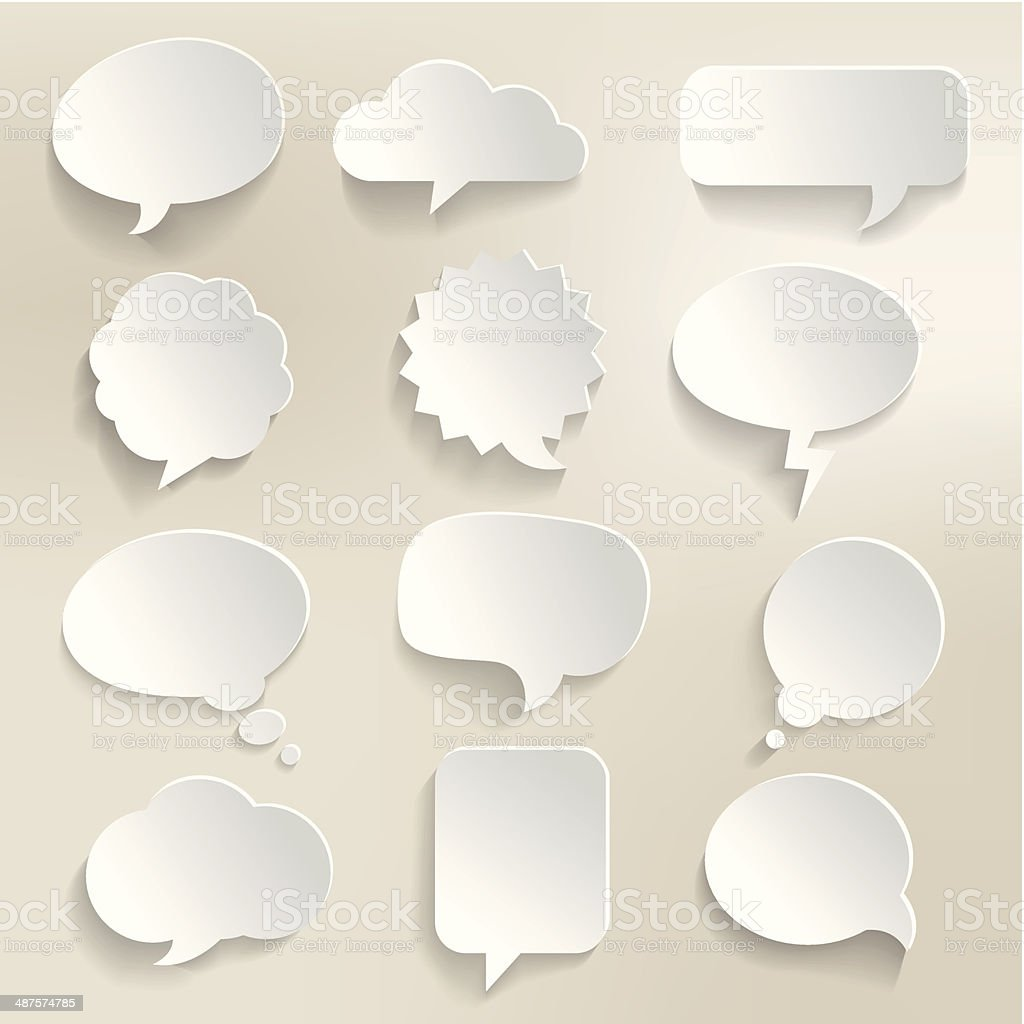 Speech Bubbles 3D vector art illustration