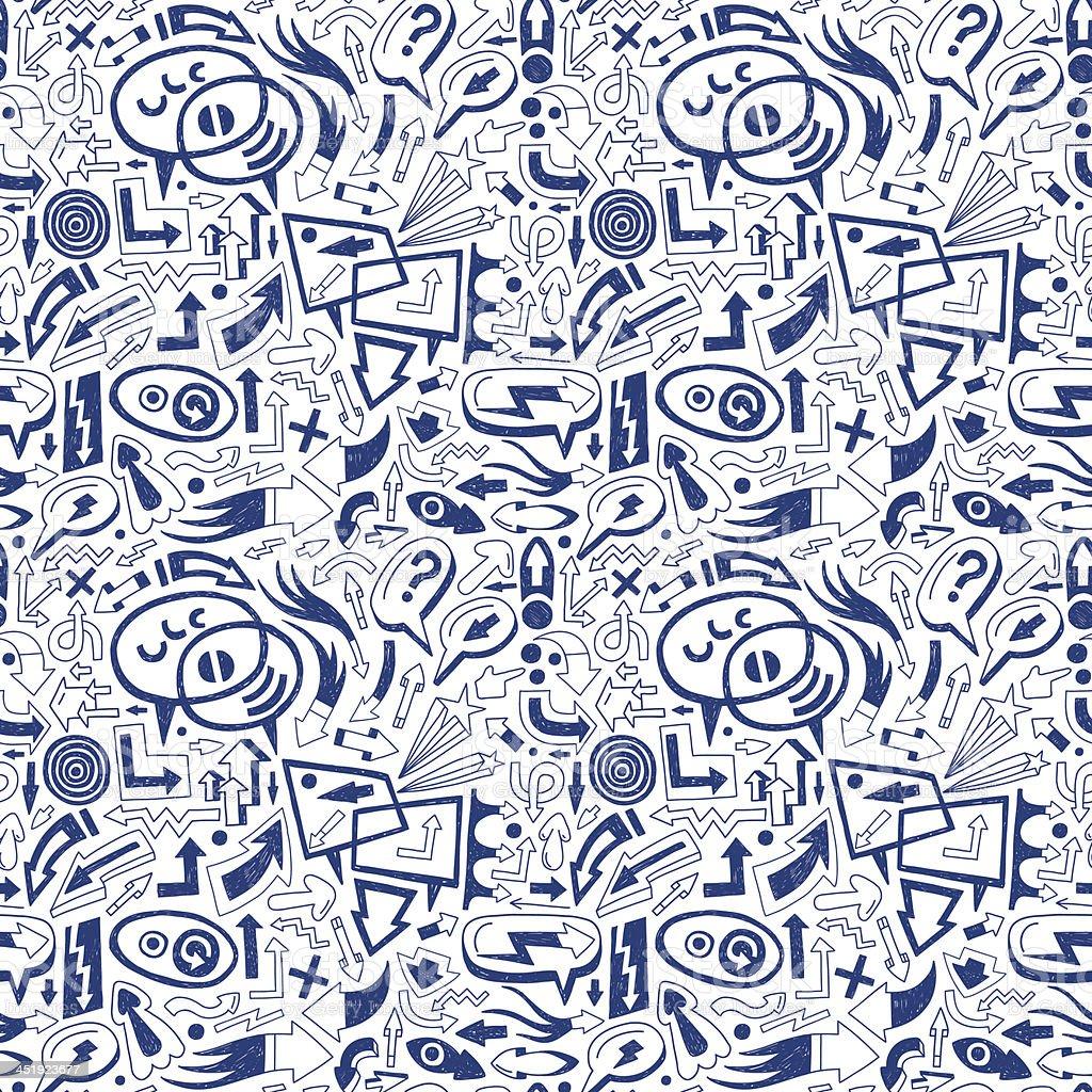speech bubbles and arrows - seamless vector pattern royalty-free speech bubbles and arrows seamless vector pattern stock vector art & more images of abstract