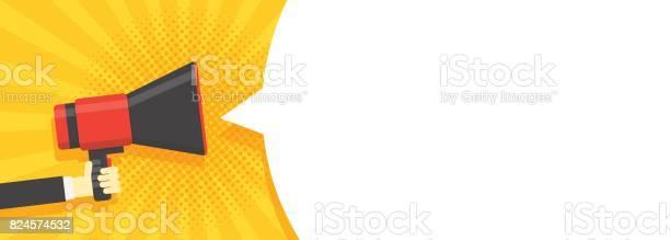 Speech bubbles announced by megaphone illustration pop art vintage vector id824574532?b=1&k=6&m=824574532&s=612x612&h=e7yqhpcxbdqtemnaf1yzmuuuw2yzqvqsymkhmxhxf0q=