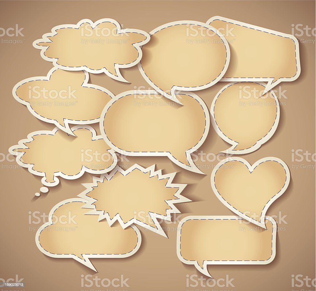 Speech bubbles Cardboard royalty-free speech bubbles cardboard stock vector art & more images of advice