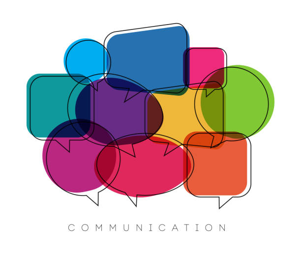 speech bubbles, communication concept, vector illustration vector art illustration