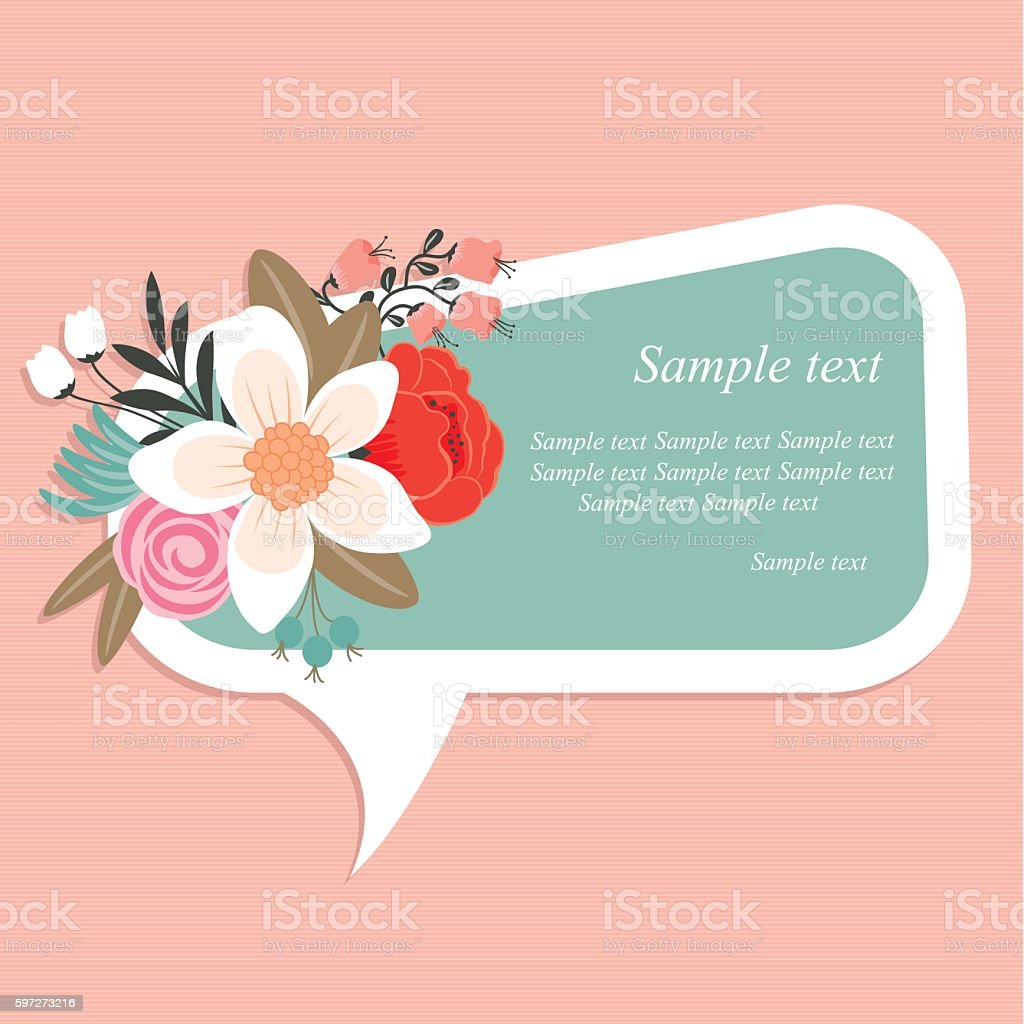 Speech bubbles floral decorative royalty-free speech bubbles floral decorative stock vector art & more images of backgrounds