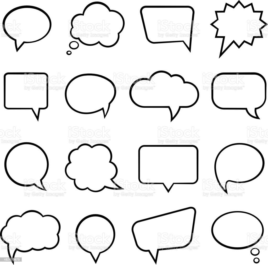 Speech bubbles for infographics vector art illustration