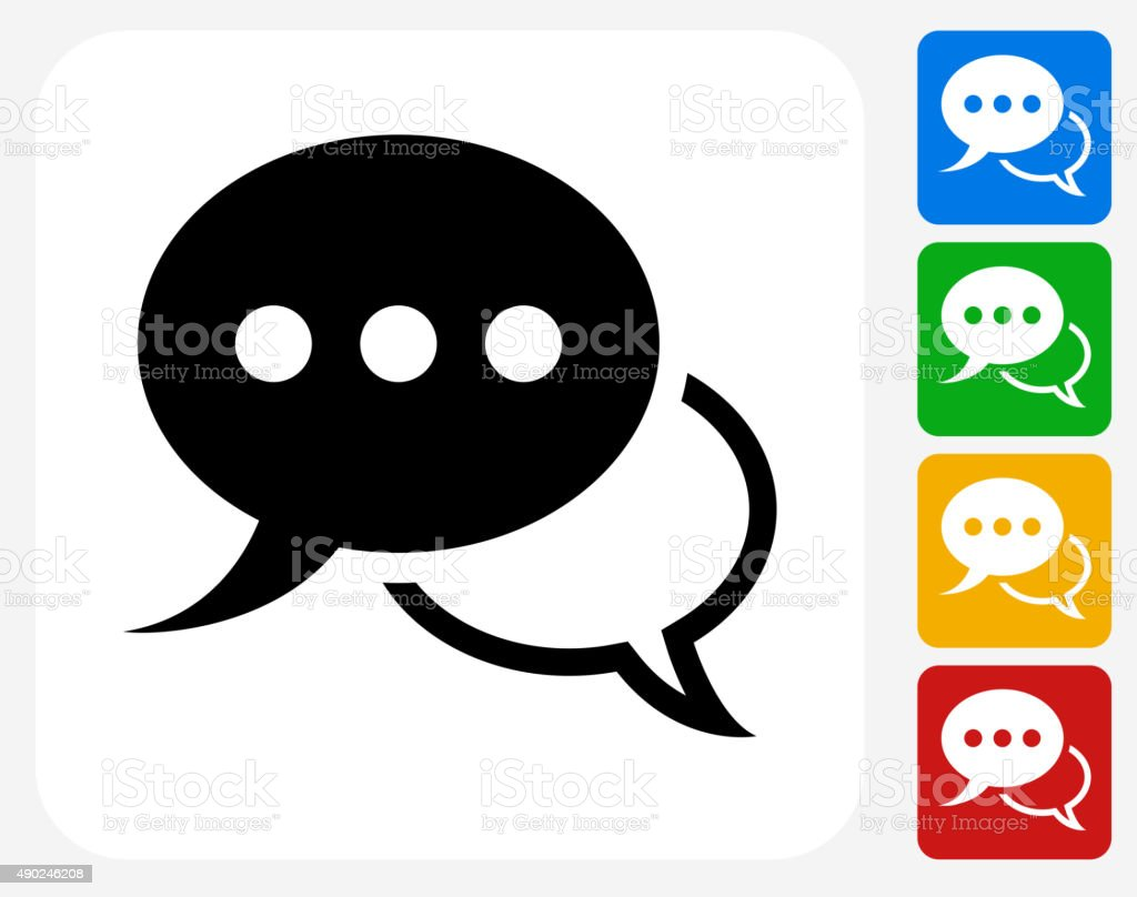 Speech Bubbles Icon Flat Graphic Design vector art illustration