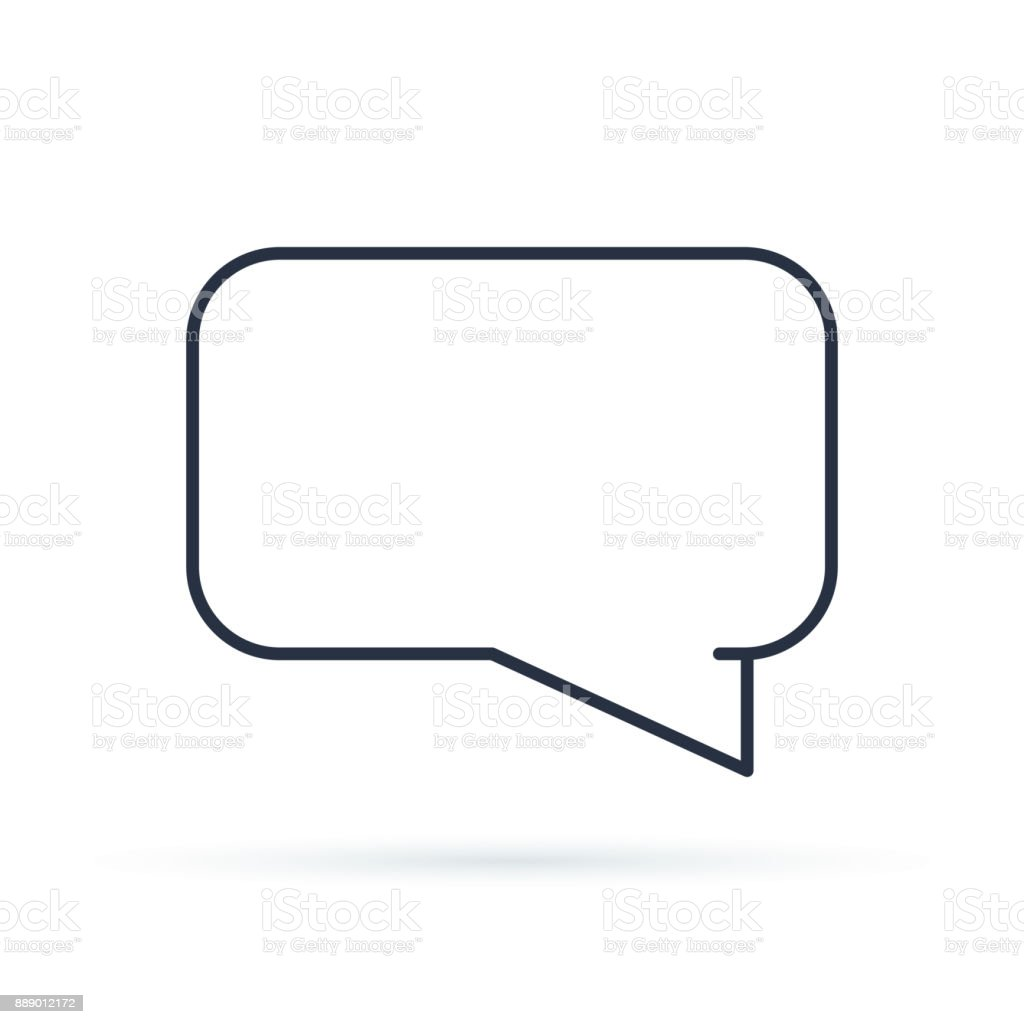 Speech Bubbles Icon Flat Icon Single High Quality Outline