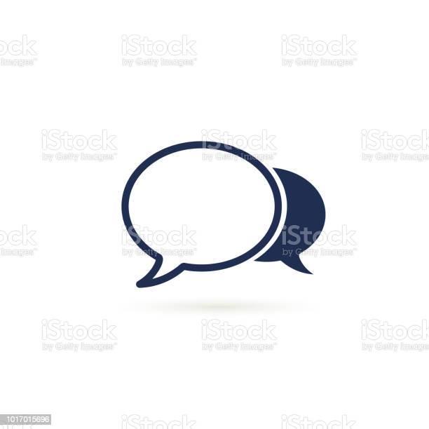 語音氣泡圖示向量平面設計插圖在白色上隔離向量圖形及更多一個物體圖片