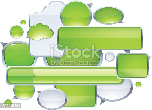 istock Speech Bubbles Icons in green 529415334