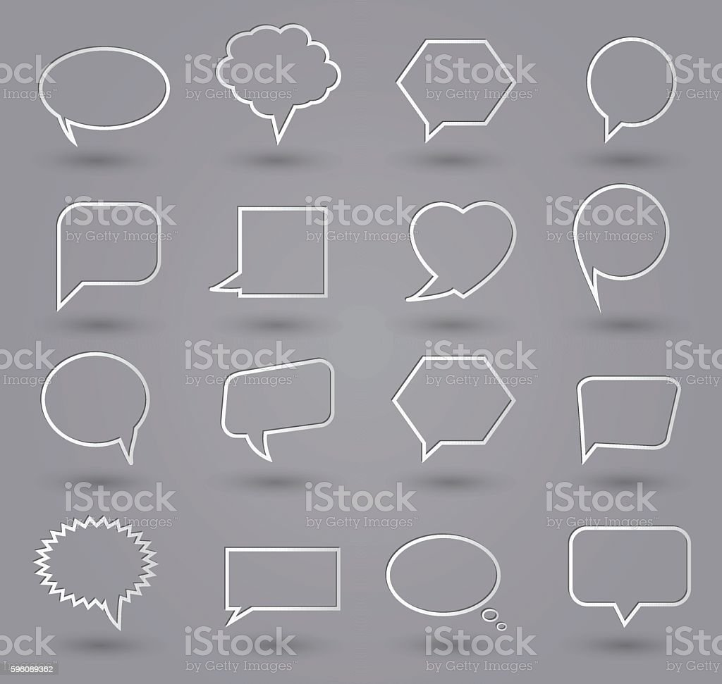Speech bubbles icons. Thin line royalty-free speech bubbles icons thin line stock vector art & more images of abstract
