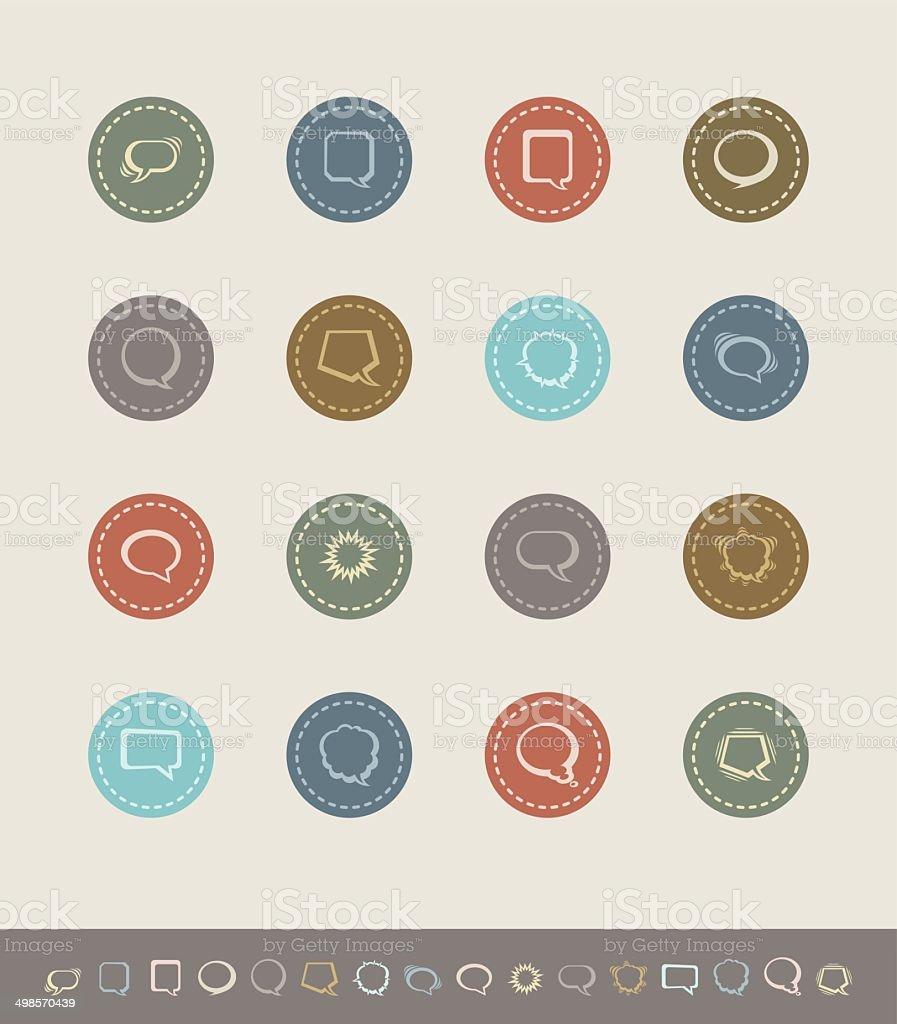 speech bubbles icons vector art illustration