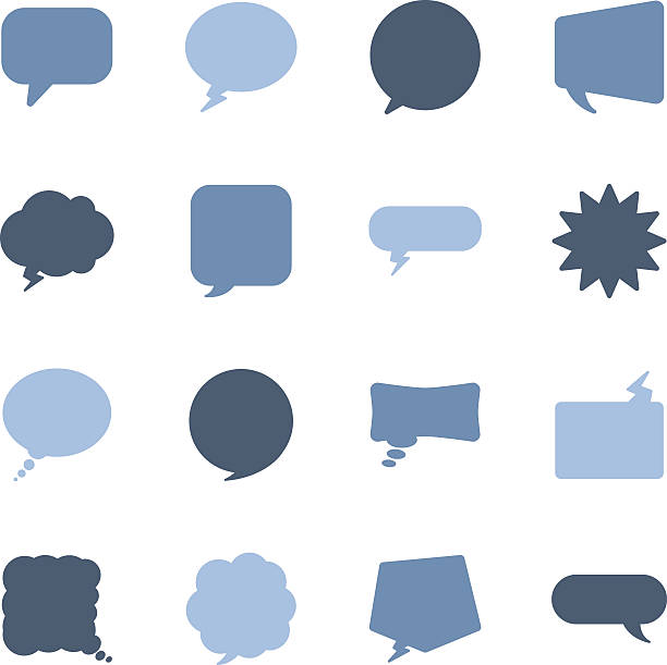 speech bubbles icons - speech bubble stock illustrations, clip art, cartoons, & icons