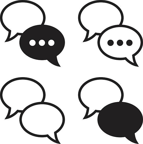 Ícones de bolhas de discurso - ilustração de arte em vetor