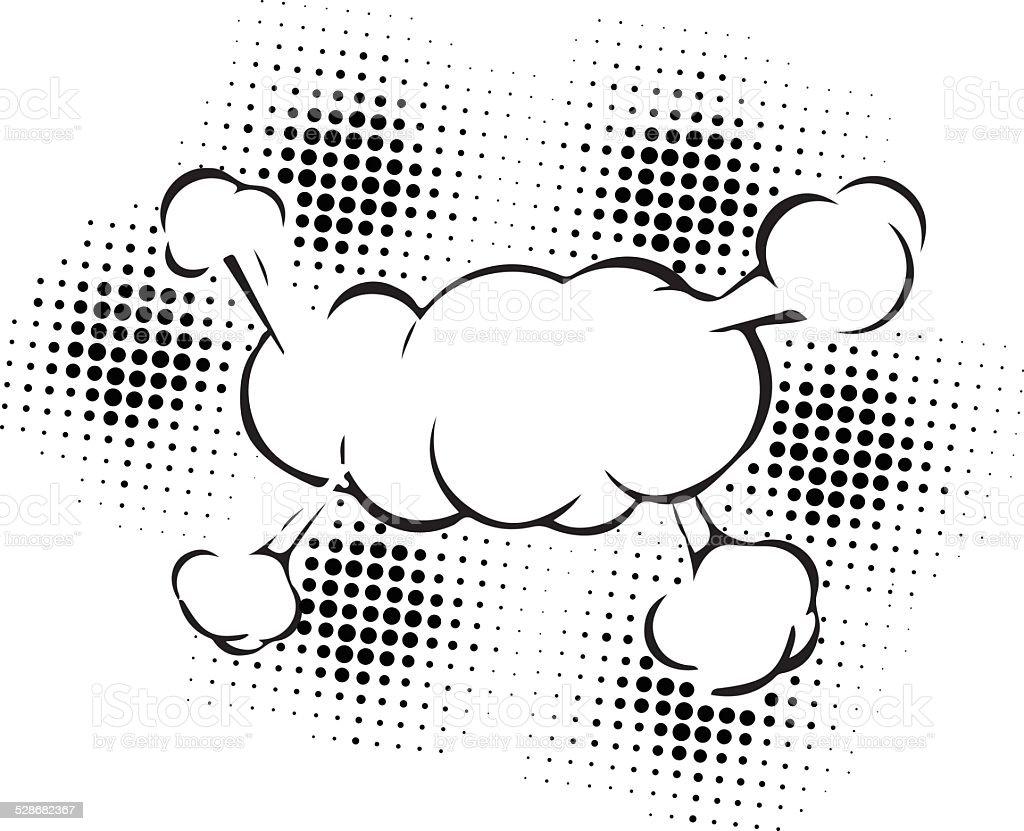 speech bubbles in pop art style vector art illustration