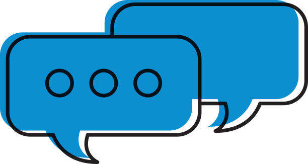 speech bubbles message chat talk concept vector art illustration