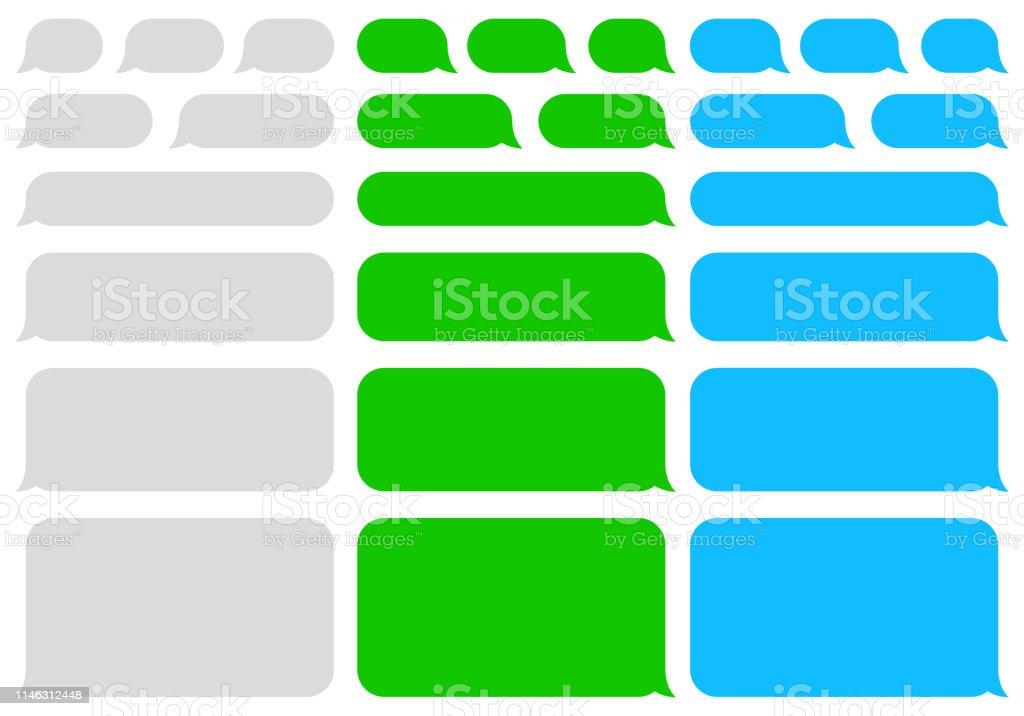 語音氣泡消息。短信。聊天。向量 - 免版稅一組物體圖庫向量圖形