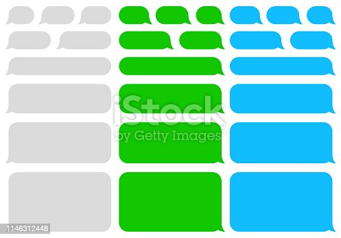 istock Speech bubbles message. SMS. Chat. Vector 1146312448
