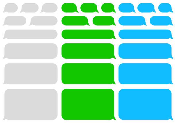 speech blasen nachricht. sms. plaudern. vektor - blase physikalischer zustand stock-grafiken, -clipart, -cartoons und -symbole