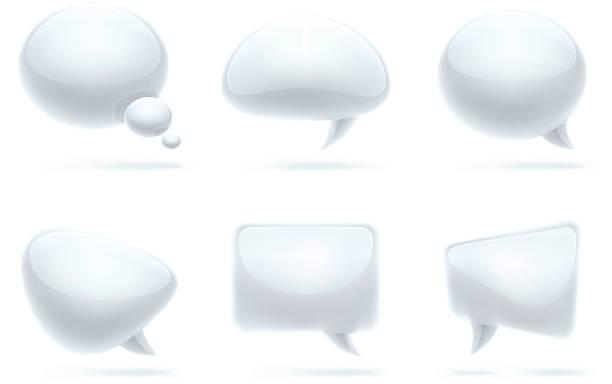 Speech bubbles   modern set vector art illustration