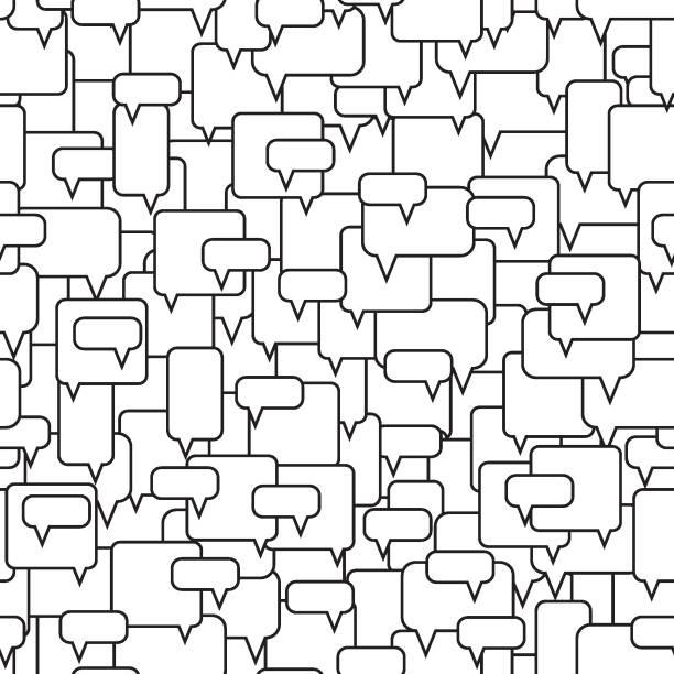 speech bubbles seamless pattern. - duża grupa obiektów stock illustrations