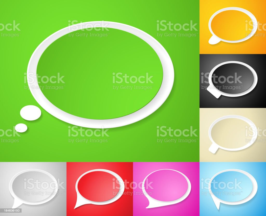 Speech bubbles, set of vector illustrations royalty-free speech bubbles set of vector illustrations stock vector art & more images of announcement message