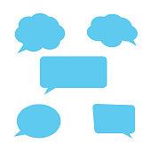 istock Speech Bubbles Set. Stickers of speech bubbles vector 1135925493