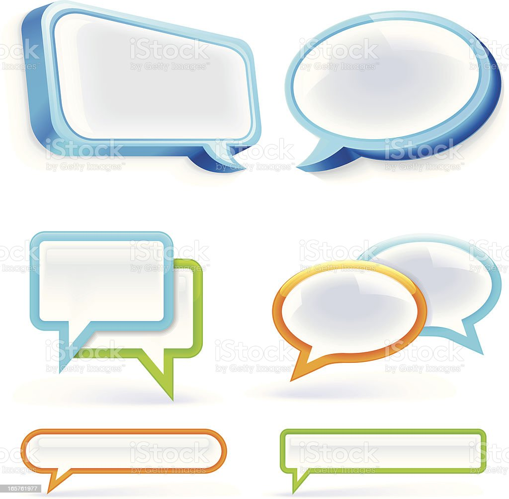 Speech Bubbles Set royalty-free speech bubbles set stock vector art & more images of blue