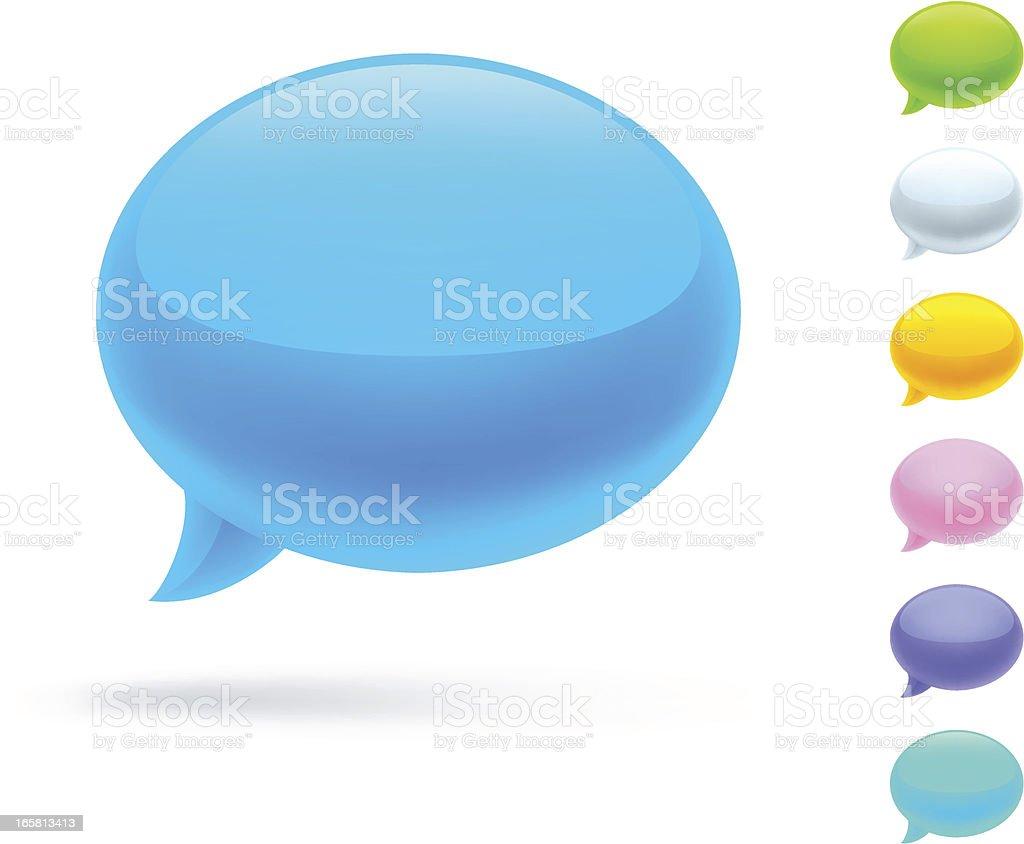 Speech bubbles set royalty-free stock vector art