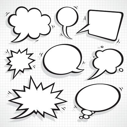 Speech bubbles set clipart