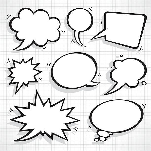 Speech bubbles set Speech bubbles set speech bubble stock illustrations