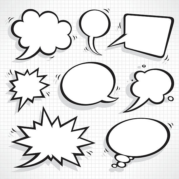 speech bubbles set - comic book stock illustrations