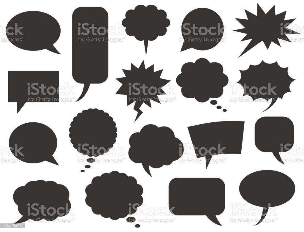 Conjunto de bolhas de discurso - ilustração de arte em vetor