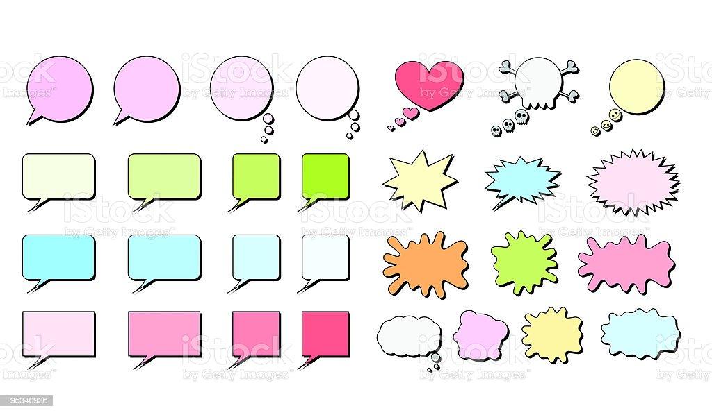 Speech Bubbles Set royalty-free speech bubbles set stock vector art & more images of anger