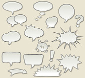 Speech bubbles in sketchy style
