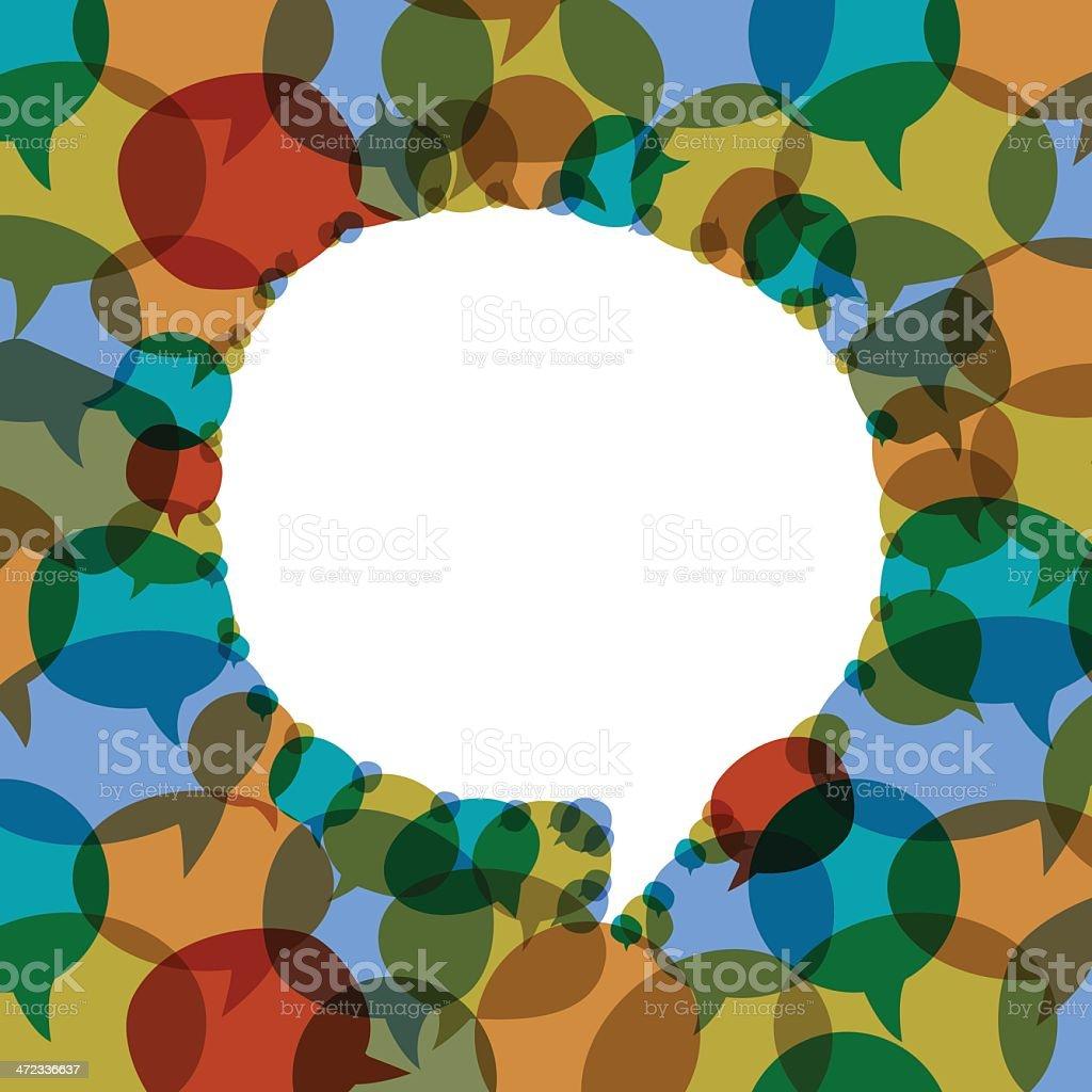 speech bubbles vector background royalty-free stock vector art