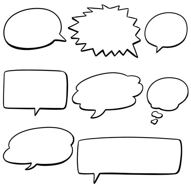 speech bubbles vector set of speech bubbles speech bubble stock illustrations
