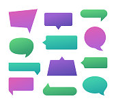 Speech bubbles for chating talking with space for your copy.