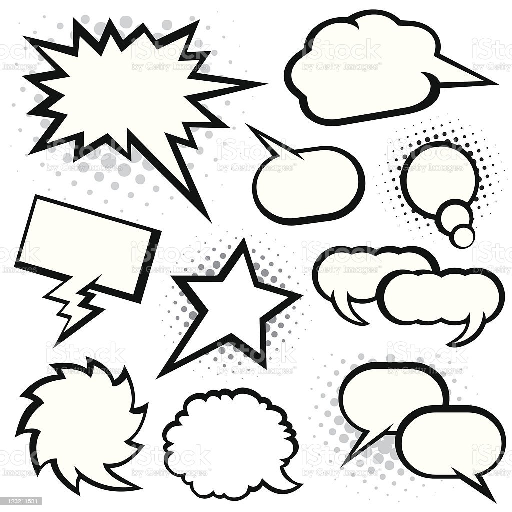 Speech Bubbles royalty-free speech bubbles stock vector art & more images of black and white