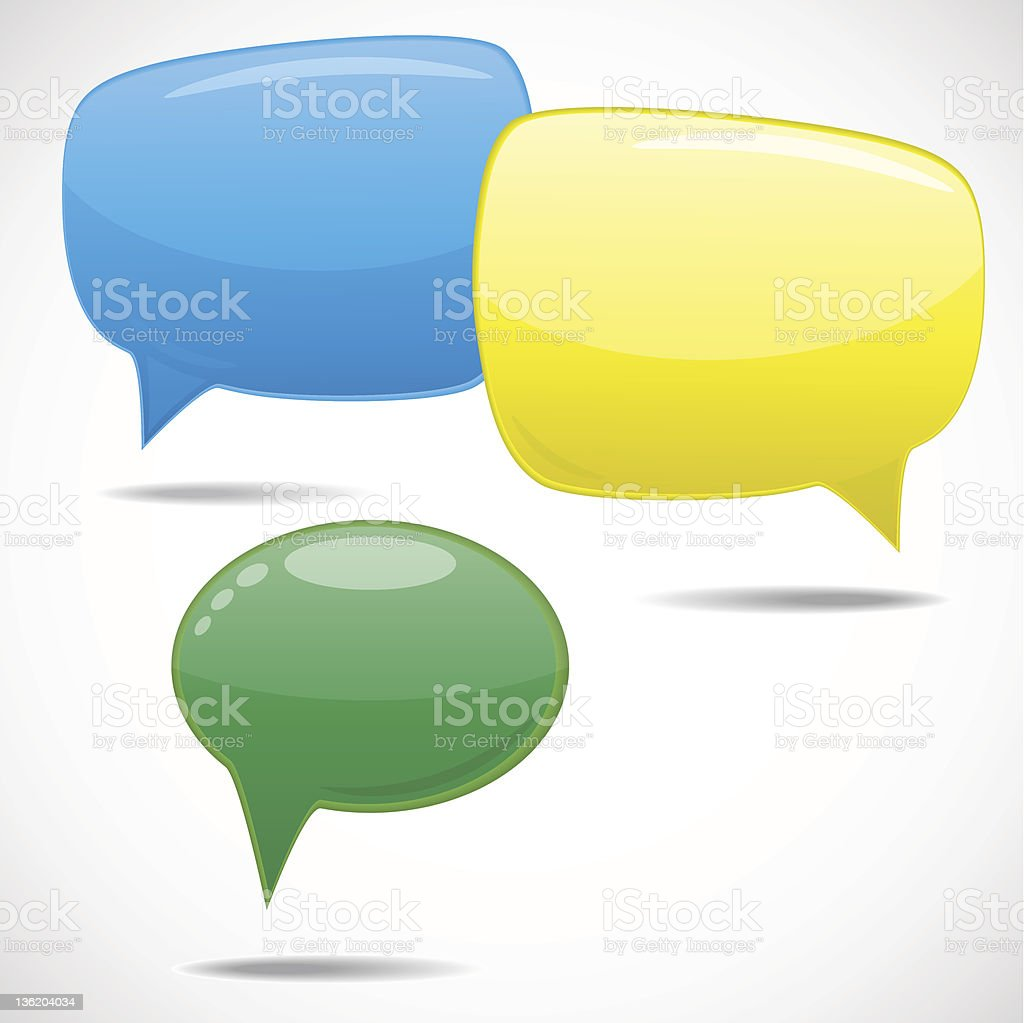Speech bubbles royalty-free stock vector art