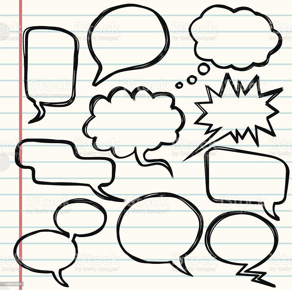 Speech bubbles vector art illustration