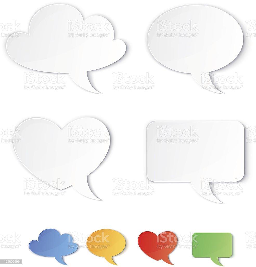 Speech bubbles royalty-free speech bubbles stock vector art & more images of blue