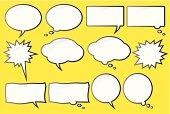Comic Speech Bubbles, vector